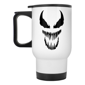 Venom Spiderman Black and White stainless steel travel mug