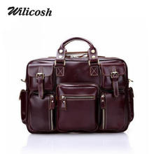 100% First Layer Genuine Leather Men Messenger Bags Brand Shoulder Crossbody Bags Vintage Men Leather Handbags Portfolio DB5682
