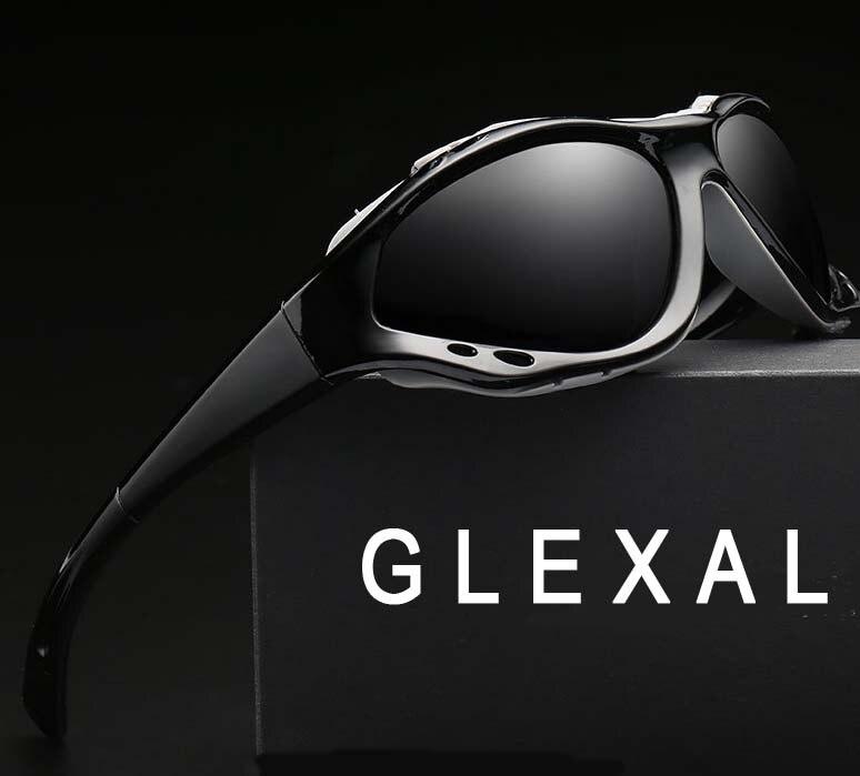 Glexal fashion new Men tinted driving Glasses Polarized Glasses Mountain Outdoor Sports Equipment Prescription Windproof UV400