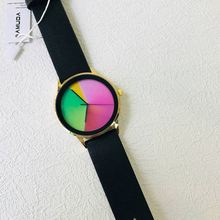 AMUDA Creative Style Fashion Neutral Rainbow Quartz Wristwatches font b Women b font Leather Strap font