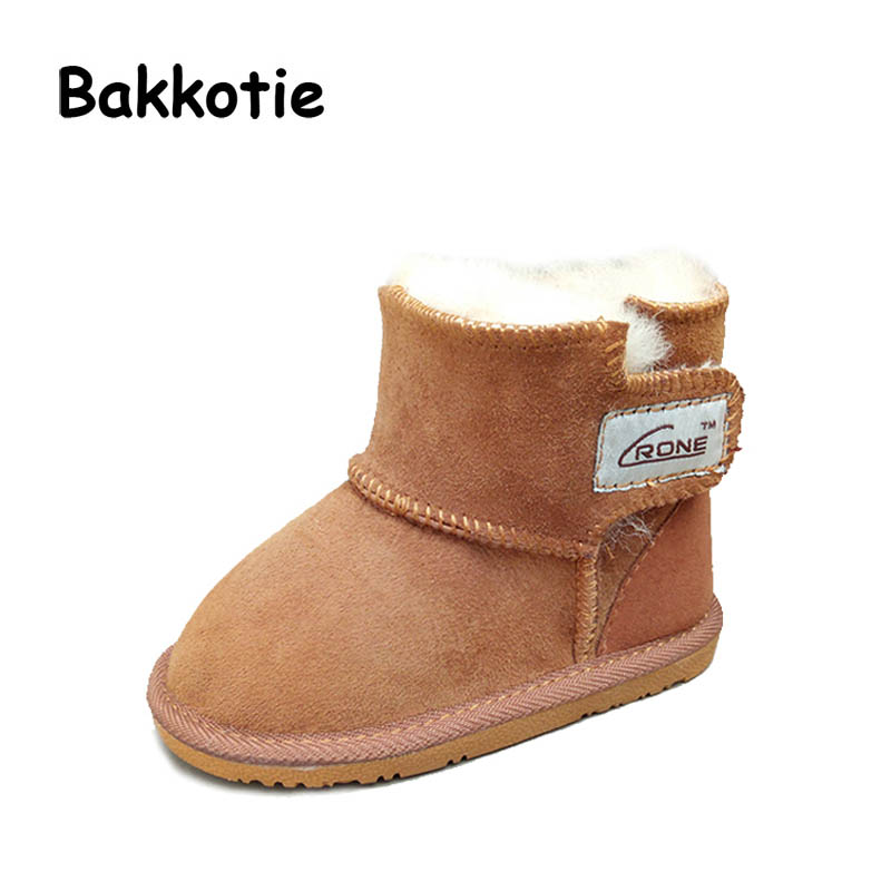 Bakkotie New Child Fashion Winter Warm Snow Boots Plush Thicker Toddler Girl Shoes Kid Boy Snow Boots Brand Toddler Boots Soft bakkotie 2017 new autumn baby boy white shoes cat kid girl brand leisure sneaker gneuine leather breathable child soft trainer