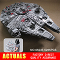 LEPIN 05033 5265 Pcs Star Wars Ultimate collector Millennium Falcon Modelo Kit De Construção Blocos Tijolos de Brinquedo de Presente Compatível 10179
