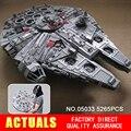 LEPIN 05033 5265 Unids Star Wars Halcón Milenario del Último Colector Modelo Kit de Construcción de Bloques de Ladrillos de Juguete de Regalo Compatible 10179