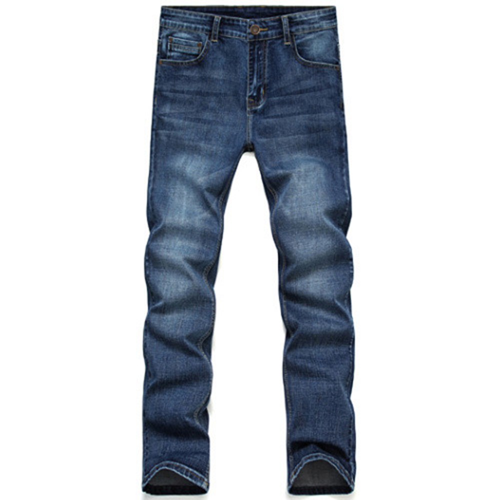 Mens Jeans New Fashion Men Casual Jeans Slim Straight High Elasticity Feet Jeans Loose W ...
