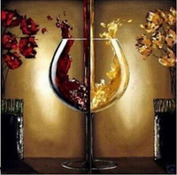 Decorative Art 100 Handmade Oil Painting On Canvas Living Room Home Decor Wall Paintings Wine Glass