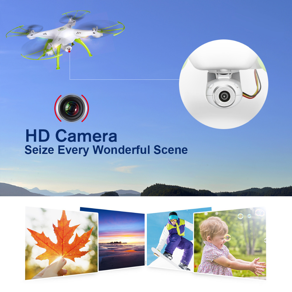 Image 4 - SYMA X5HW Selfie RC Drone With Camera Wifi FPV Transmission RC Quadcopter Helicopter Remote Controll Dron Toys For Children Boys-in RC Helicopters from Toys & Hobbies