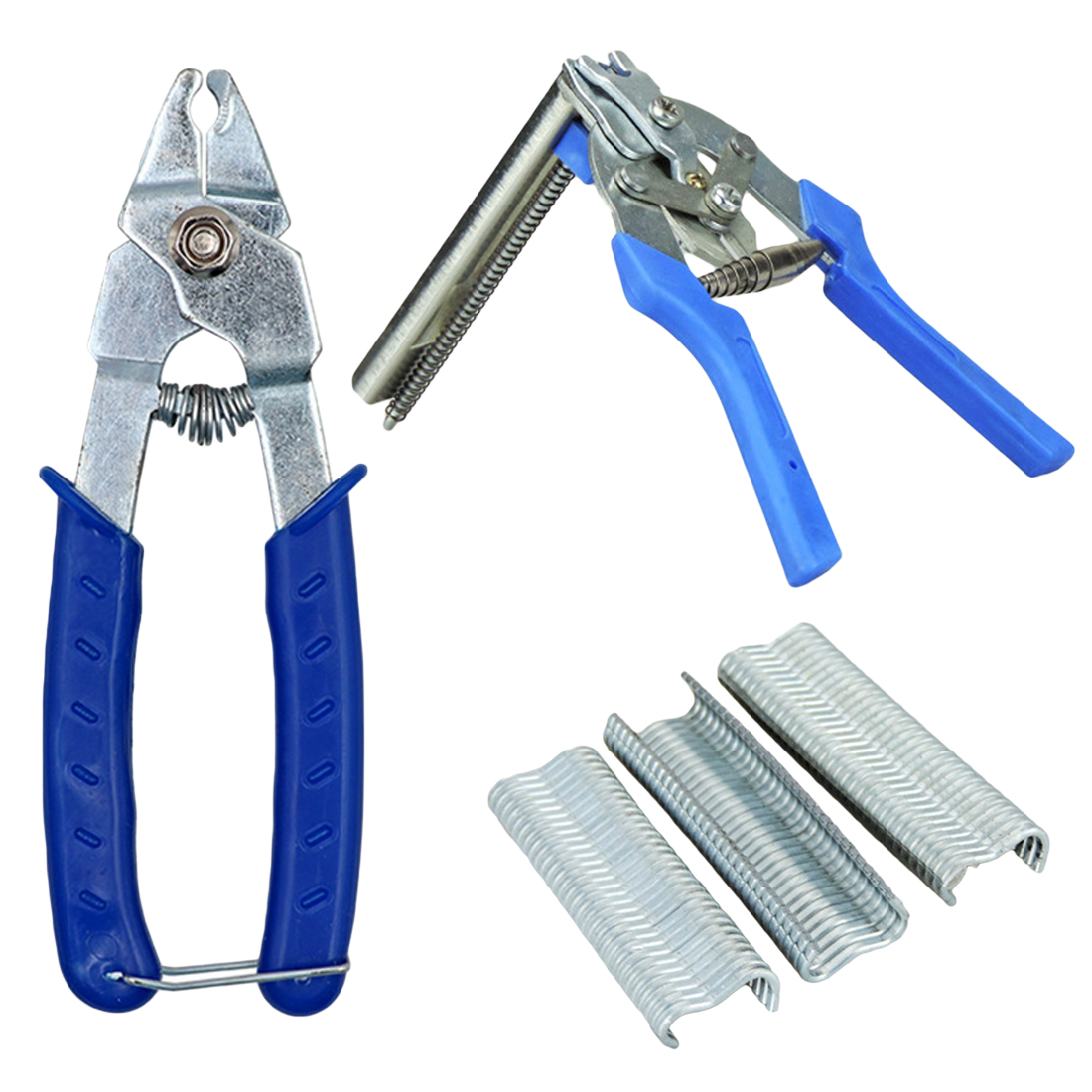 Hog Ring Plier Tool 600pcs M Clips Chicken Mesh Cage Wire Fencing Crimping Solder Joint Welding Repair Hand Tools