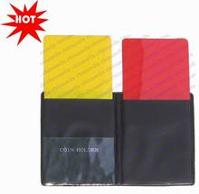 100pcs soccer champion yellow and red cards Referee special warning signs Red &