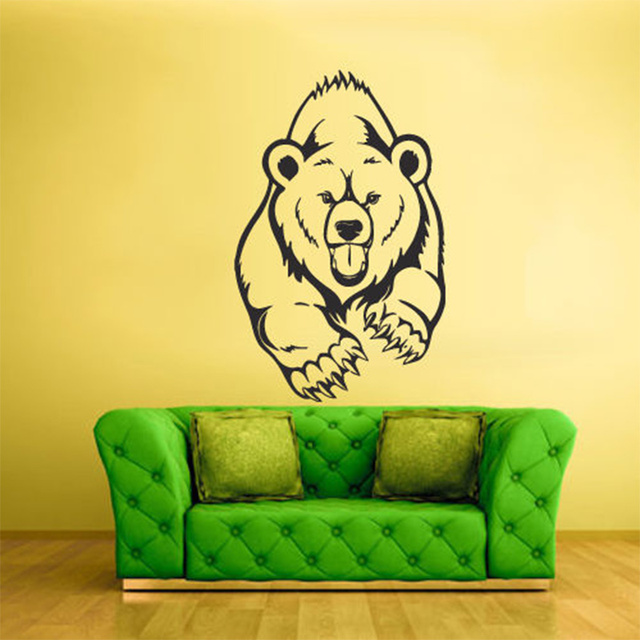 DIY Wall Stickers Wall Decals, Bear Head Wall Sticker Type PVC Wall Stickers S37*58cm/L58*90cm-in Wall Stickers from Home & Garden on Aliexpress.com | ...