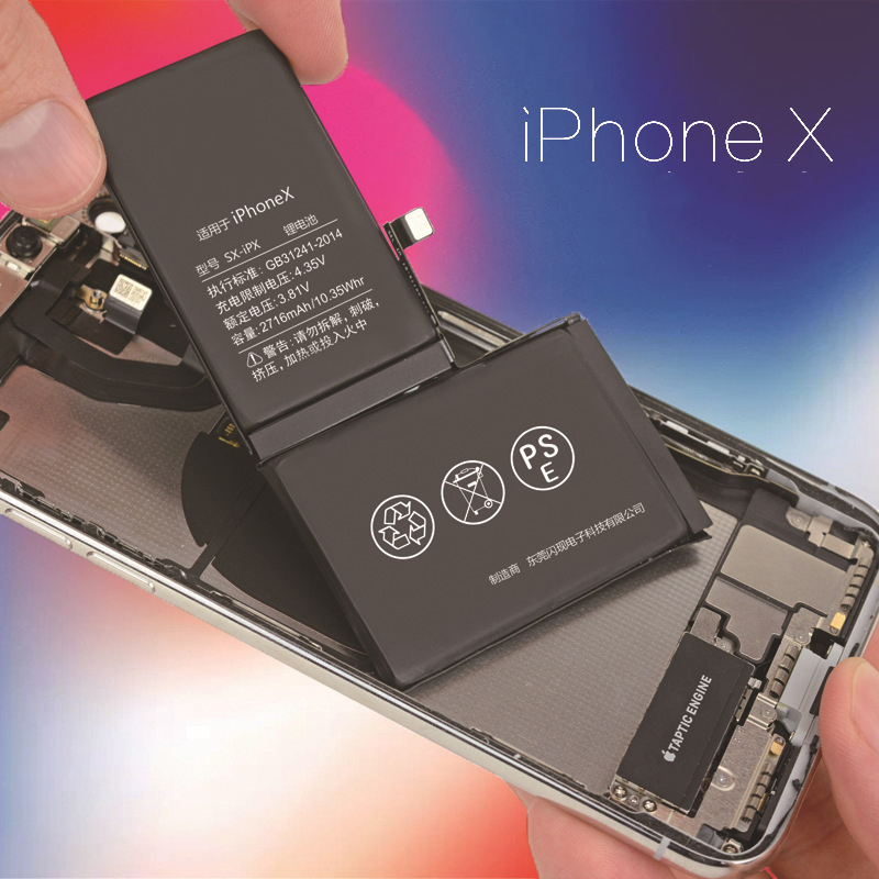 Batterie de remplacement pour Apple Iphone X batterie 10 capacité réelle 2716 mAh téléphone portable Bateria Lithium polymère + outils gratuits