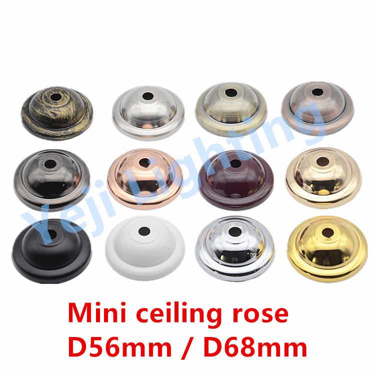 Мини потолок Роза потолочный навес шнур набор лампа база для led люстры с подвесками Освещение E27 держатель Edison винтажные держатели ламп