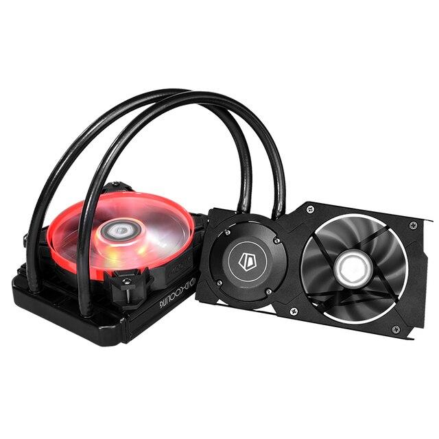 Охладитель для воды с ID-COOLING FROSTFLOW 120VGA 120 мм AIO для игровой vga-карты, светодиодный светильник, Nvidia & ATI