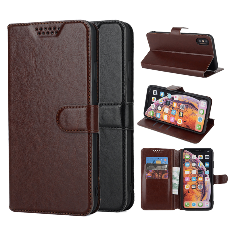 Leather Soft Case for <font><b>Alcatel</b></font> One Touch Pop 4 Plus 5056 <font><b>5056D</b></font> 5051D 5051J Flip Stander Wallet Case Cover Coque Holster image