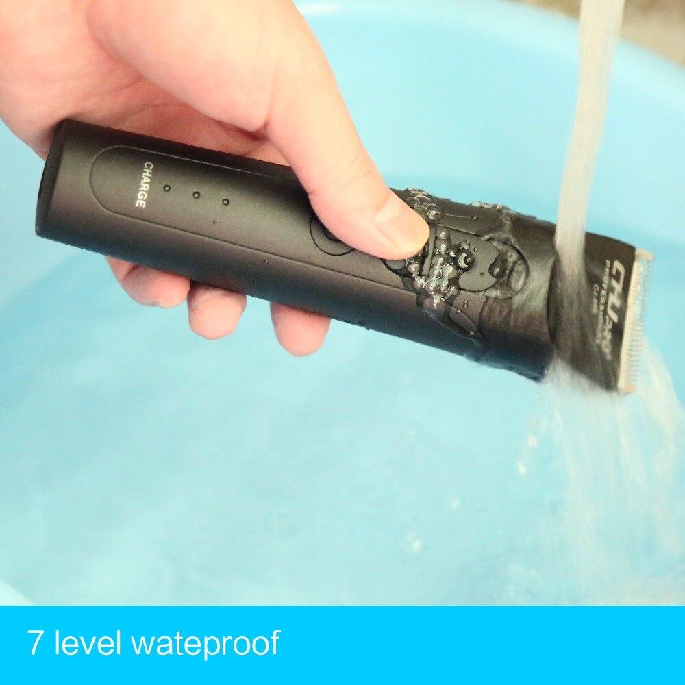 CHJ professionnel tondeuse à cheveux 7 niveau étanche électrique rasoir tondeuse Rechargeable tondeuse à barbe Machine de découpe - 6
