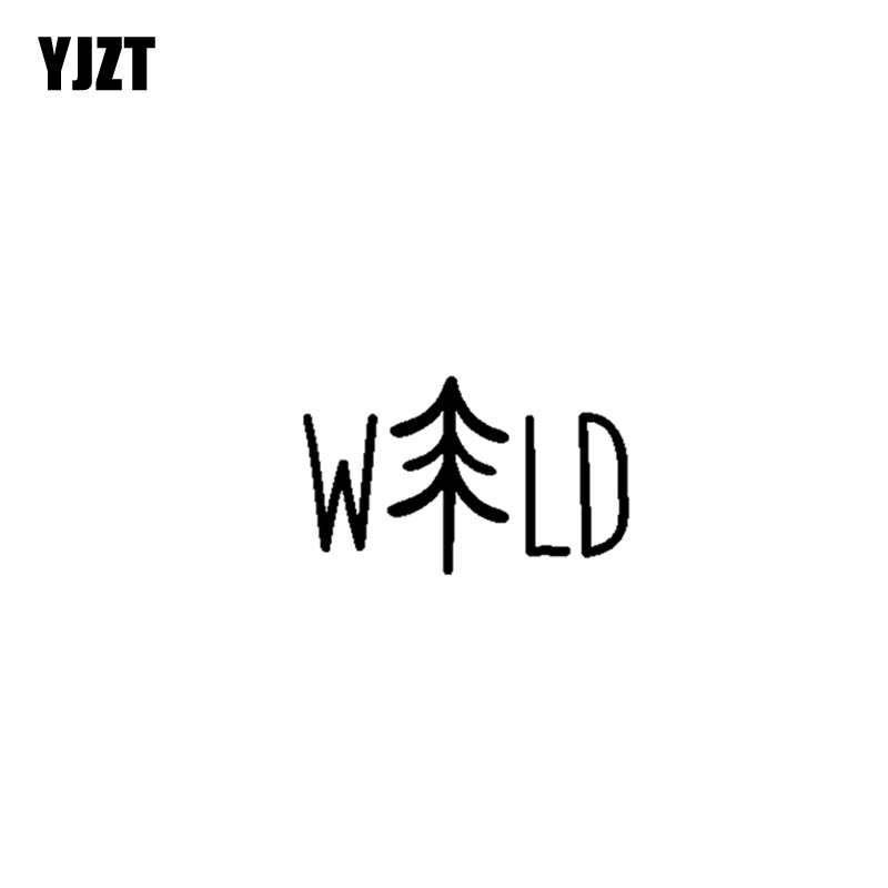 YJZT 12.7CM*7.9CM Wild Adventure Vinyl Motorcycle Car Sticker Decals Black/Silver C13-000363