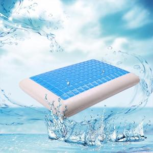 Image 4 - Memory Pillow Foam White Bed Gel Pillow Cooling Orthopedic Cushion for Sleeping Travel Neck Fatigue Relief Outdoor Tool