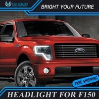 Car Head Lamp For Ford F150 2008 2014 LED Headlight Angle Eye HID Lighting Lens LED Strip Headlights Front Lamp