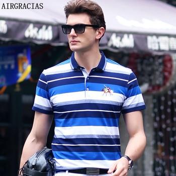 Airgracias mens striped polo shirt summer fashion men polo shirts short sleeve slim fit shirt for.jpg 350x350