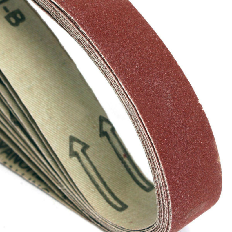 60 75 x 533mm Pack of 20 Assorted Sanding Belts 80 /& 120 grits 5 each of 40