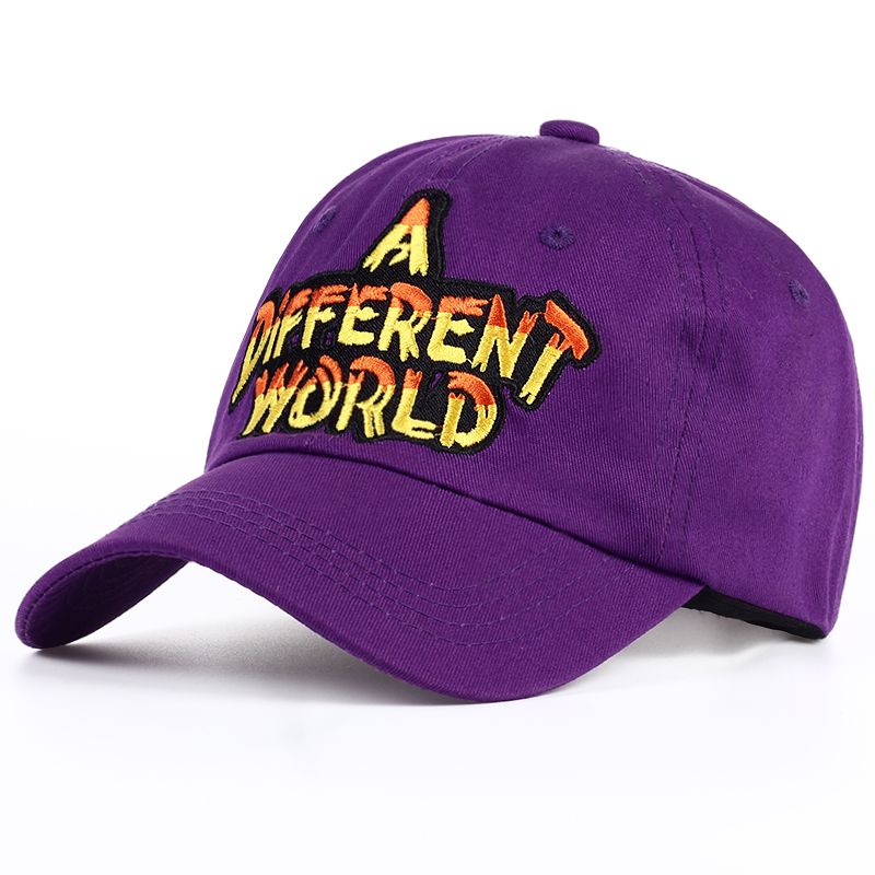 HTB1dtBOSVXXXXcHaXXXq6xXFXXXy - VORON new Purple Multi Color A Different World Dad Cap men women Cotton baseball cap Bone Snapback Trucker Hat