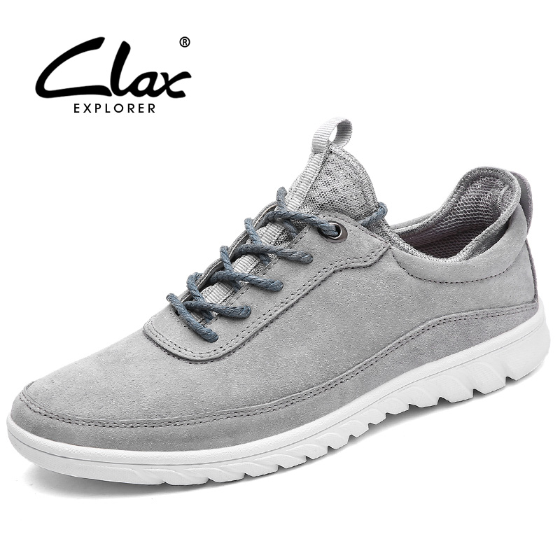 Clax Men Casual Shoes 2017 Spring Summer Autumn Suede Leather Footwear Male Breathable Soft Leisure Shoe Walking Shoe male casual shoes soft footwear classic men working shoes flats good quality outdoor walking shoes aa20135