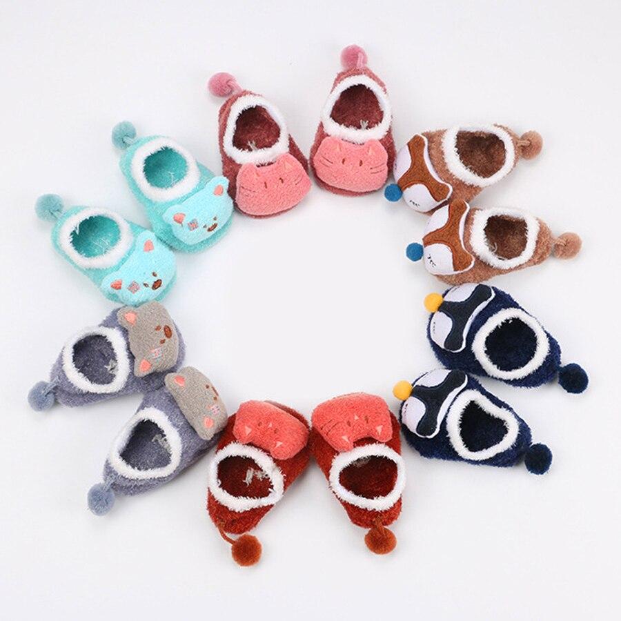 0 5 Years Old Children Floor Socks Autumn Winter Cute Cartoon Baby Doll Anti slip Rubber Baby Socks Toddler Girl Newborn Socks in Socks from Mother Kids