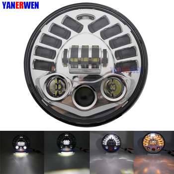 """7"""" Motorcycle LED Headlight with turn signal lamp For Moto Trike models 2009-2013 etc.  7 inch Led Lights 70W"""