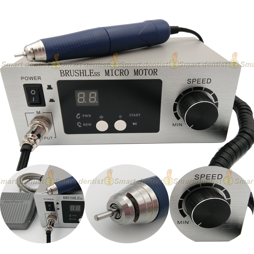70,000 RPM Non-Carbon Brushless NEW Aluminium Shell Dental Micromotor Polishing Unit with lab handpiece dental micro motor 2018 50 000 rpm non carbon brushless new design dental micromotor polishing unit with lab handpiece dental micro motor powerful
