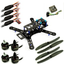 250 PRO Carbon Quadcopter Kit +Emax MT1806 Motor ESC+New CC3D+ Carbon Propeller BLUE