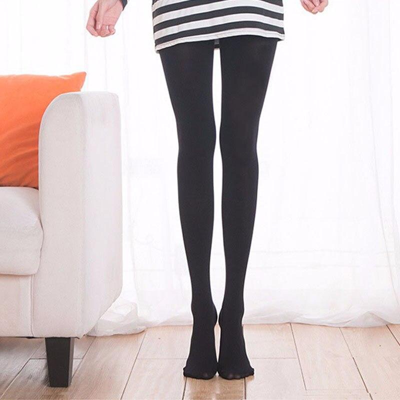 bbcbc3a4128 Women Long Sexy Stockings Pantyhose Female Leggings 120d Velvet Pantyhose  White Panty-hose Varicose Veins