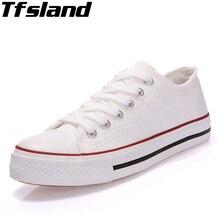Tfsland/прогулочная обувь; женская парусиновая обувь на плоской подошве; женские белые кроссовки для студентов; женская дышащая обувь на шнуровке; Белая обувь