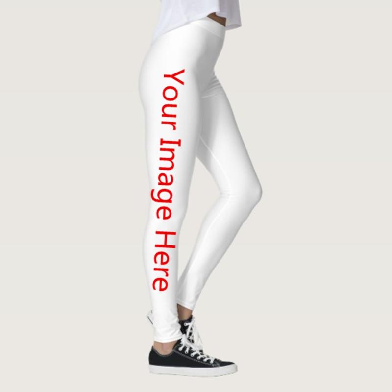 Quality Women Soft Legging Personality 3D Print Leggings Customize Push Up Elastic Fitness Slim Design Fun Trousers DropShipping