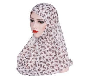 Image 5 - One Piece Amira Women Muslim Hijab Niquabs Scarf Islamic Headwear Shawls Headwraps Hat Full Cover Headscarf Prinrt Middle East