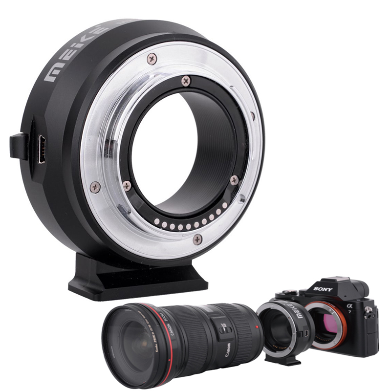 MK-S-AF4 Auto Focus mount lens adapter ring for SONY micro single camera to Canon EF/EF-S Lens , SONY NEX-3C/5/5N/6/7/a7 2017 gift enmex creative simple design brief face with a red pointer steel band water prof young and fashion quartz watch