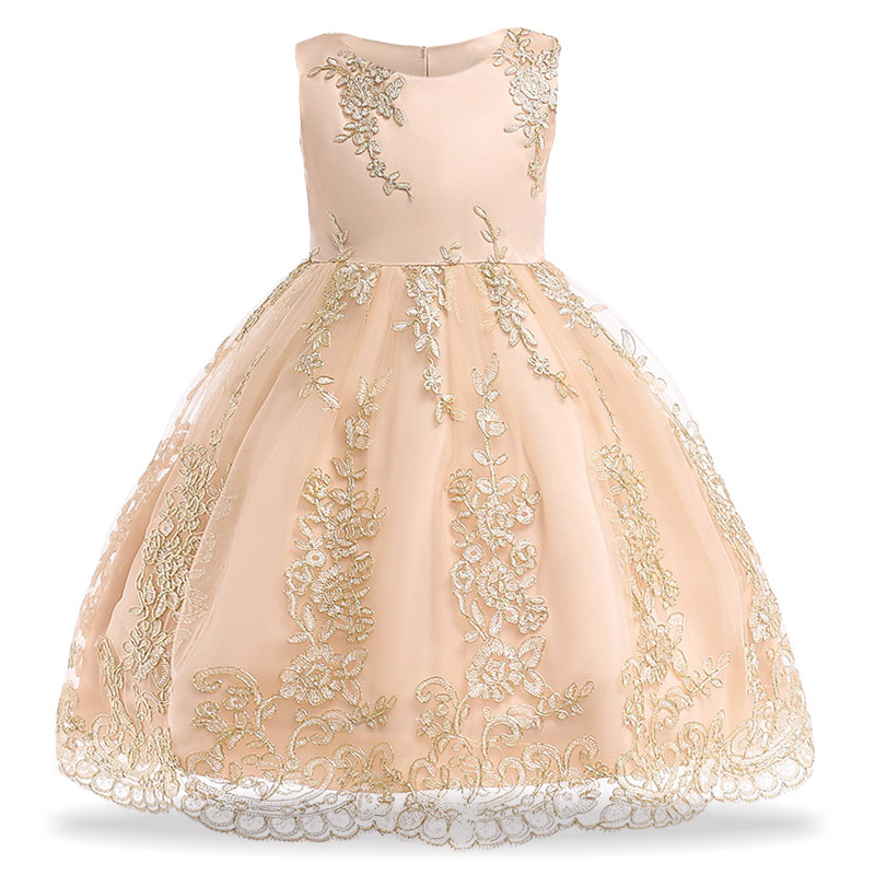 Toddler Girls Lace Princess Dress Elegant Kids Party Dresses For Girls Wedding Dress Children Christmas Dress For Girls Costume girls dress kids wedding bridesmaid children girls dresses 2018 christmas pageant outfits princess party dress for girls 2 12yrs