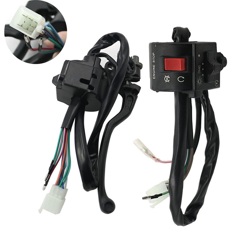 """Suzuki Right /& Left Handlebar Switch Set 7//8/"""" GS125 GN125 Replacement NEW"""