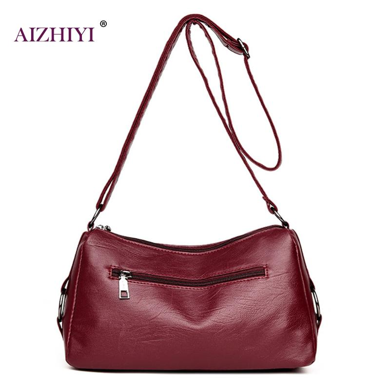 3fa7a9157c14 Aliexpress.com   Buy Women Messenger Bags Handbag Square Retro PU Leather Solid  Color Crossbody Bag for Women Ladies Black Wine Red Shoulder Bags from ...
