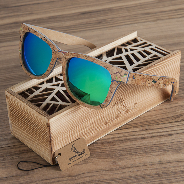 77a5c36d0c56e BOBO PÁSSARO De Bambu De Madeira Óculos De Sol Dos Homens Polarizados Marca  Top Design Original