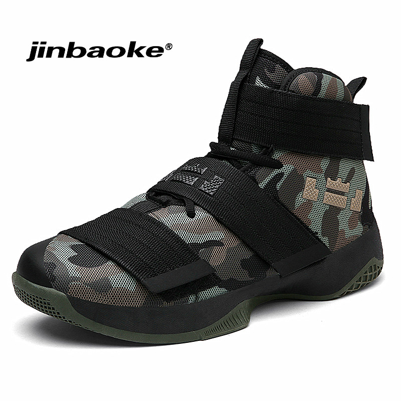 JINBAOKE Professional Basketball Shoes Lebron James High Top Gym Training Boots Ankle Boots Outdoor Men Sneakers Athletic Sport 2017 new winter women down puffer jacket female raccoon fur hooded duck down coats warm long coat thicken parkas abrigo mujer
