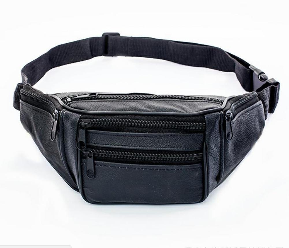 Новинка 2019, стильная мужская кожаная повседневная поясная сумка на пояс, сумка-кошелек, сумка для путешествий, Спортивная поясная сумка