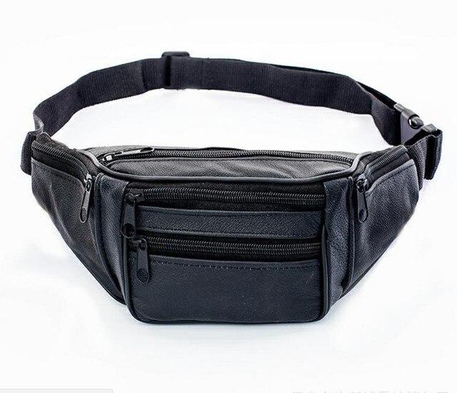 2019 Новый горячий стиль мужская кожаная повседневная поясная сумка кошелек хип-Сумка Дорожная Спортивная поясная сумка