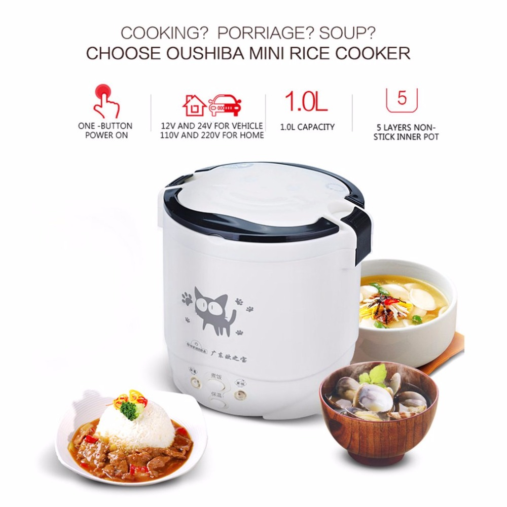 Multifunction Electric Rice Cooker 2In1 Function Cook +Steam Auto Rice Cooker Long Holding Time 1L Mini Cooker For Rice Soup rice cooker parts open cap button cfxb30ya6 05