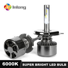 INLONG With SAMSUNG Chips Mini H7 LED H4 16000LM D4S H1 H8 H11 9005 D3S 9006 HB4 D1S Car Led Headlight Bulb 6000K Fog Lights 12V(China)