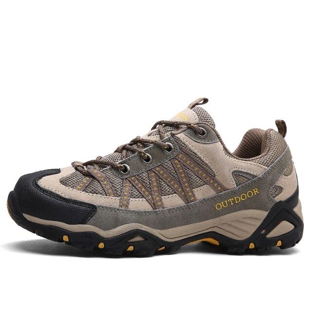 4c08d97374 Men women hiking shoes outdoor Sneakers men mountain climbing trekking shoe  male hunting trek sport shoes non-slip chasse