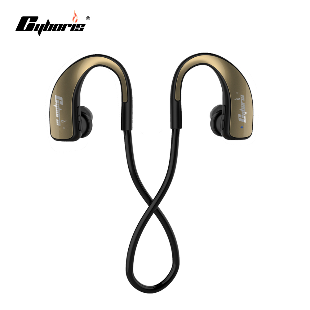 Cyboris Wireless Earbud Stereo Sports Bluetooth Earphone Noise Canceling Earphones and Headphone Wireless Headphones & Mic superlux hd 562 omnibearing headphones noise canceling monitoring rotatable