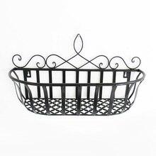 New Arrival Continental Iron Flower Baskets Hanging Basket Pots Flowerpot Shelf Home Decoration Wall Plants Shelf