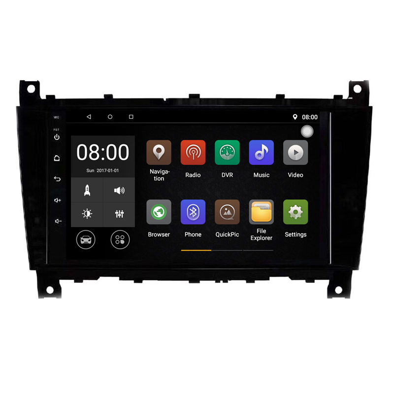 Quad Core 1G RAM Android 9.1 Car DVD for Mercedes Benz C Class W203 <font><b>CLK</b></font> <font><b>W209</b></font> CLS W219 Android <font><b>Radio</b></font> CD Player Navigation GPS image