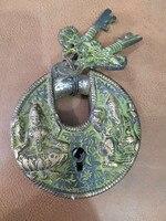 รูปปั้นทองสัมฤทธิ์โบราณของพระพุทธเจ้าล็อคบรอนซ์โบราณล็อคหัตถกรรมล็อคโบราณอื่นๆงานฝีมื...