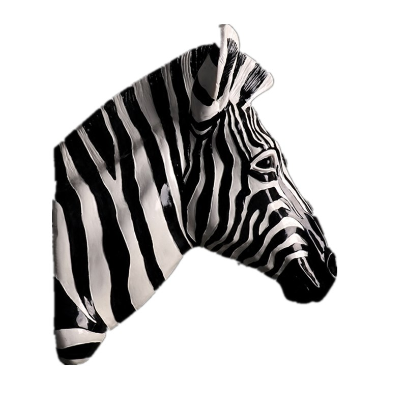 Zebra Horse Sculpture Animal Spot Horse Pendant Wall Above Statue Resin Crafts Mural Home Wall Hanging Decorations R13Zebra Horse Sculpture Animal Spot Horse Pendant Wall Above Statue Resin Crafts Mural Home Wall Hanging Decorations R13
