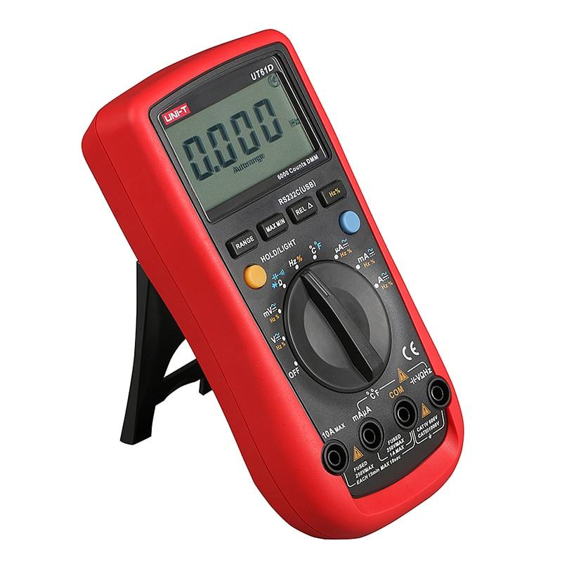 цены UT61D Handheld Multimeter Ammeter Ohm Volt Digital Universal Meter LCD Count 5999 AVO Meter High Precision UNI-T